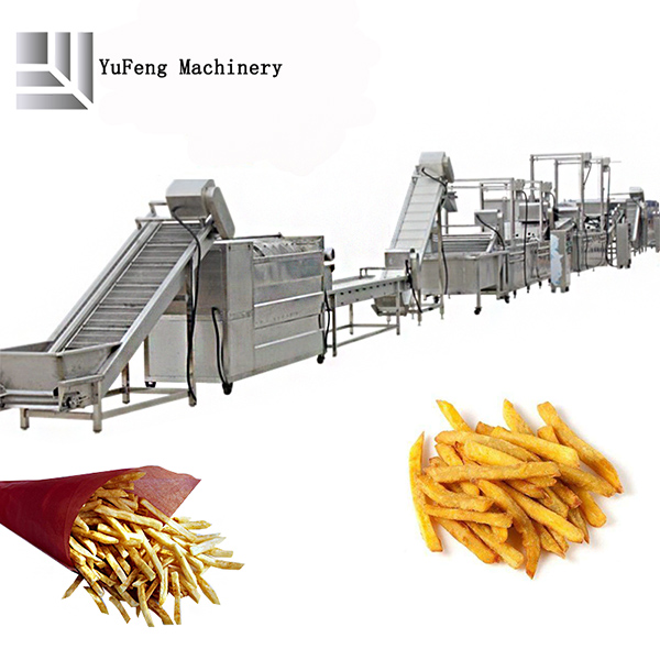French fries producdion line