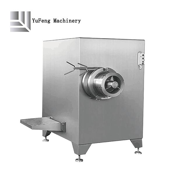 Industrial frozen meat grinder