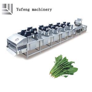 Linea di produzione per la pulizia e l'essiccazione degli alimenti