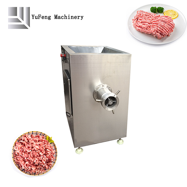 Fully automatic industrial frozen meat grinder