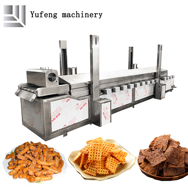 Industrial snack frying machine