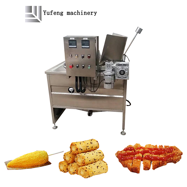 Large snack frying machine