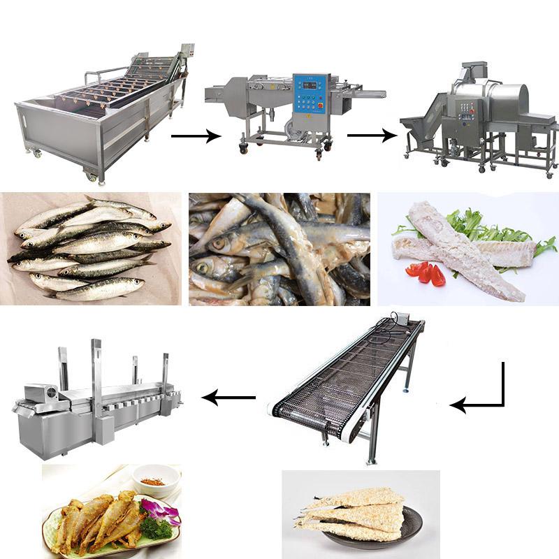 Fish frying machine