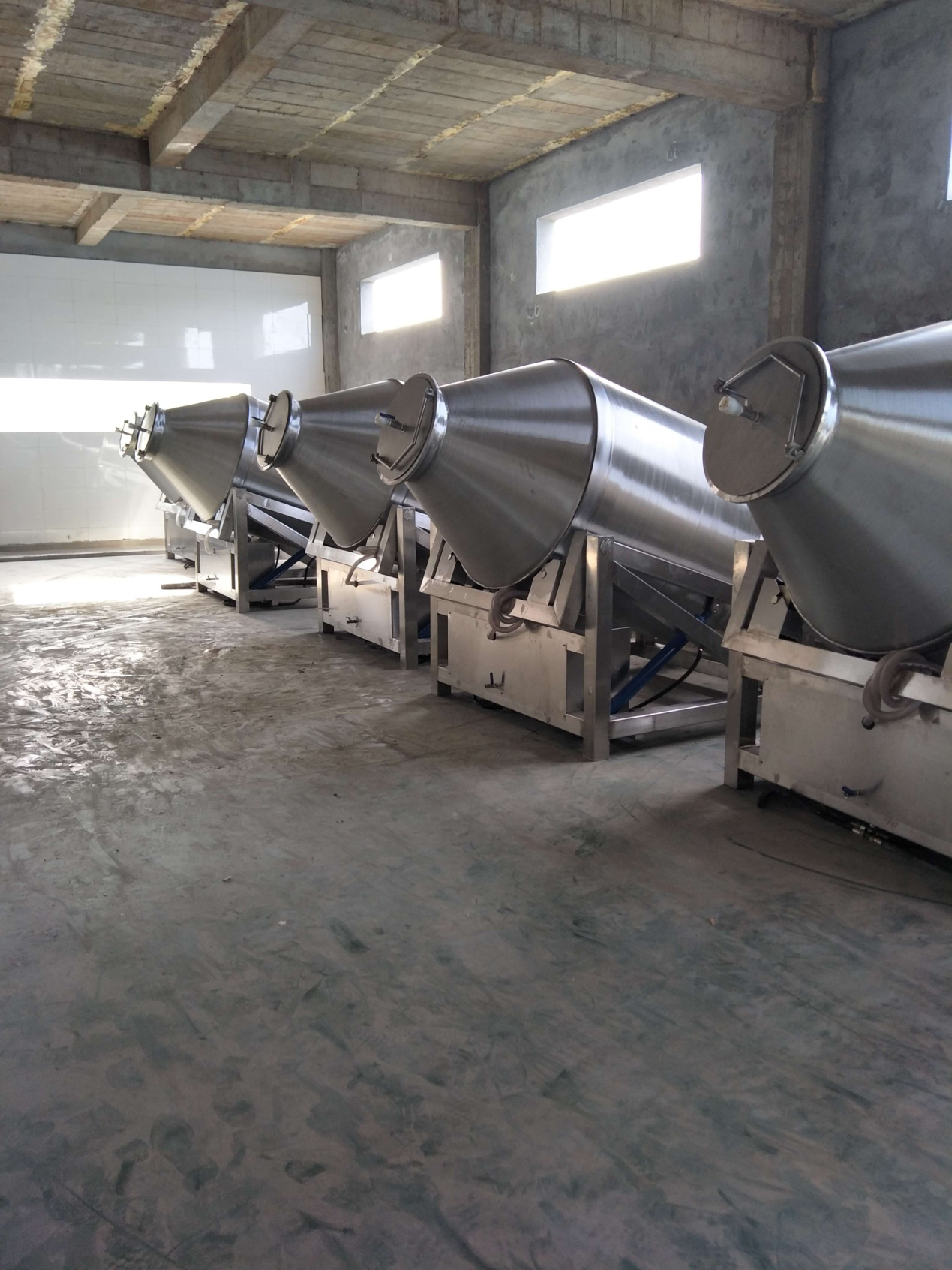 Our industrial Large Meat Tumbler for foreign customer
