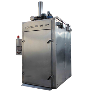 500kg/Time Industrial Automatic Meat Smoking Oven Smoked Furnace Machine
