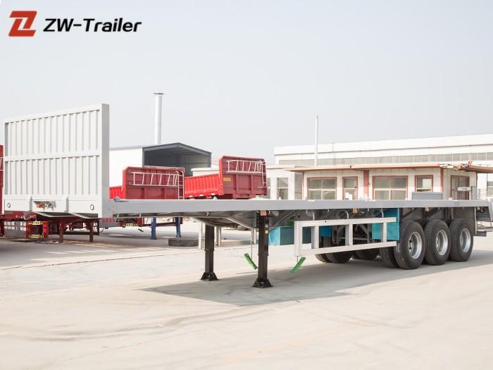 Three Axle 40ft Flatbed Semi Trailer