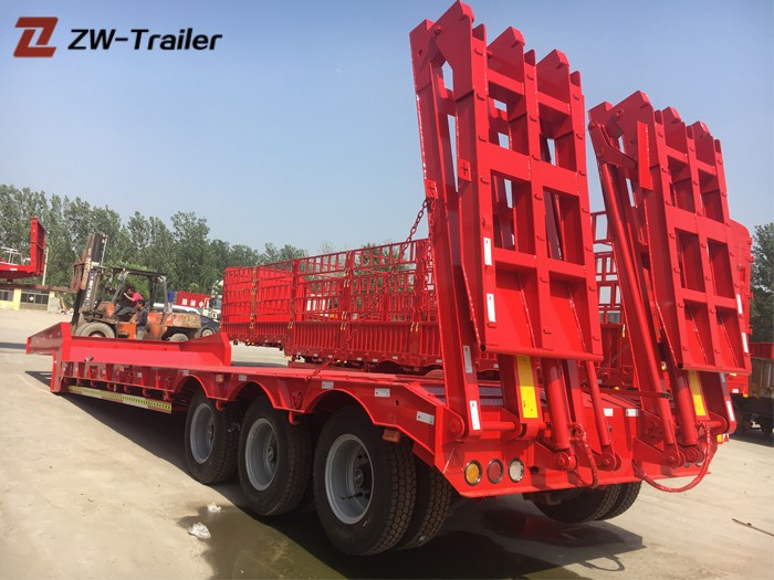 40ft Extendable Heavy Duty Low Bed Trailer