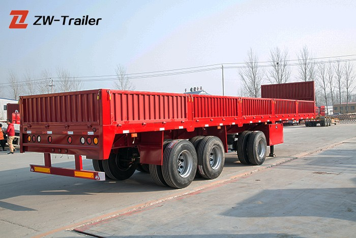 Flatbed With Removable Sides Wall Trailer