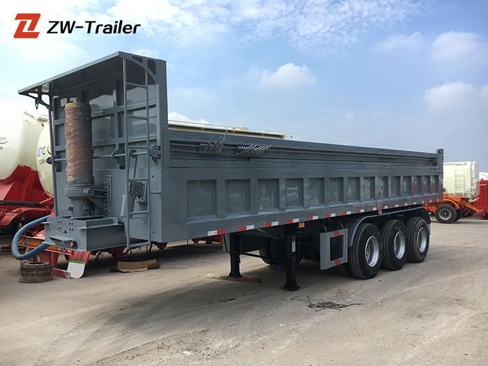 Single Axle Semi End Dump Trailers