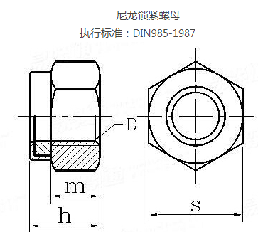 DIN985 hex thin nuts