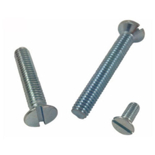 Slotted CSK Flat Head Machine Screws Zinc Plated