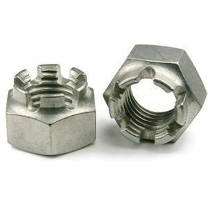 DIN935 Hex Castle Nuts Plain Zinc Plated Supplier