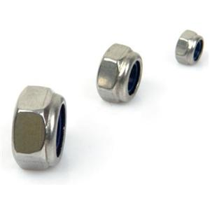 Hex Nylon Insert Lock Nuts Stainless Steel 304 316