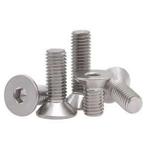 Flat Socket Head Cap Screws Stainless Steel 304 316