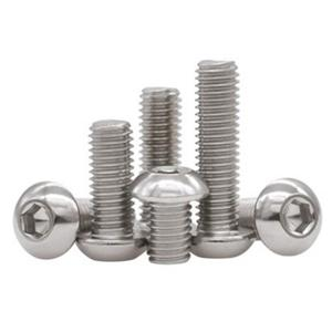 Button Socket Head Cap Screws Stainless Steel 304 316