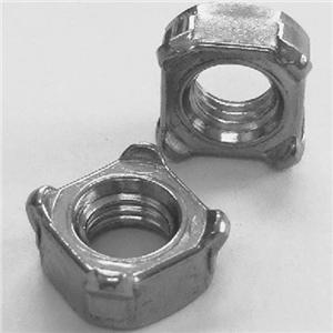 DIN928 Square Weld Nuts Plain Zinc Factory