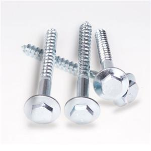 Hex Flange Head Coach Screws Carbon Steel Zinc