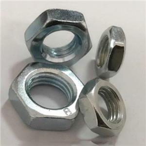 DIN439 Hex Jam Nuts Plain Zinc Plated Supplier