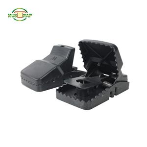 High Sensitivity Easy-Set Plastic Black Mouse Trap