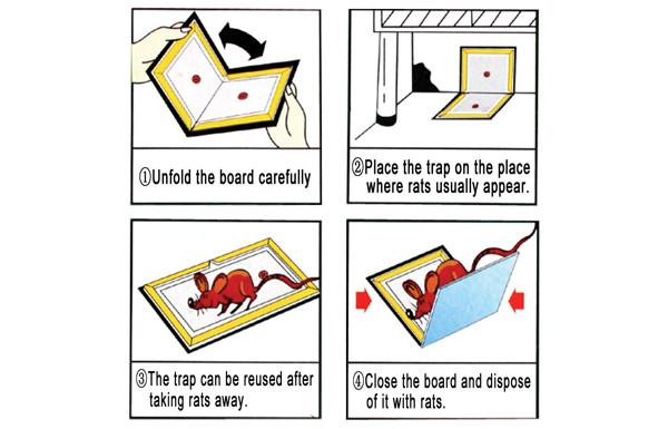 Como usar uma placa de mouse pegajosa?