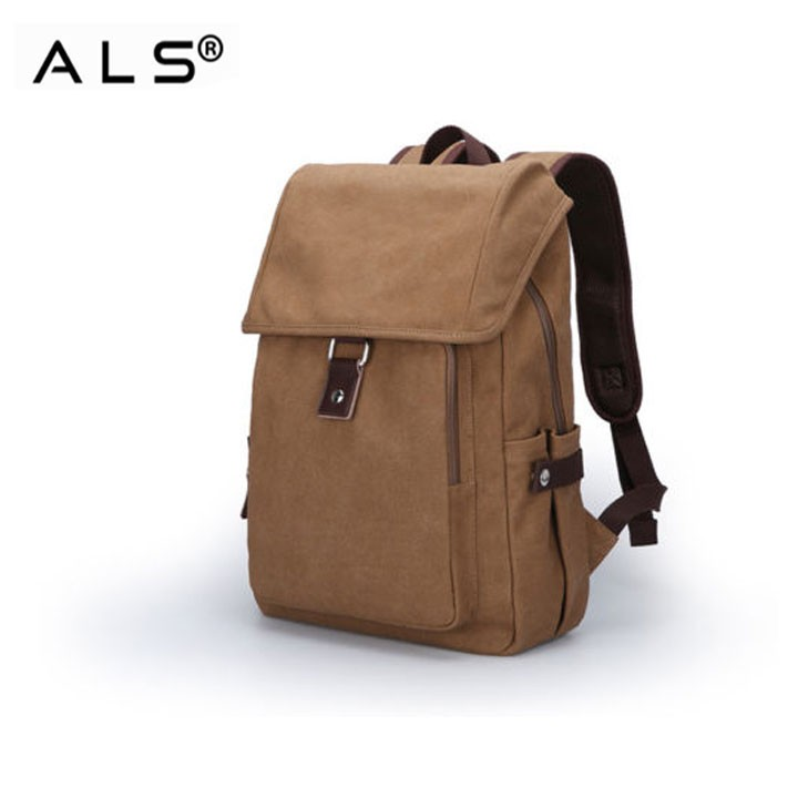 Vintage Waxed Canvas Backpack
