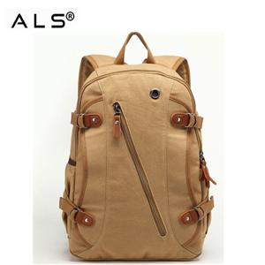 Cotton Backpack With Zipper Pocket