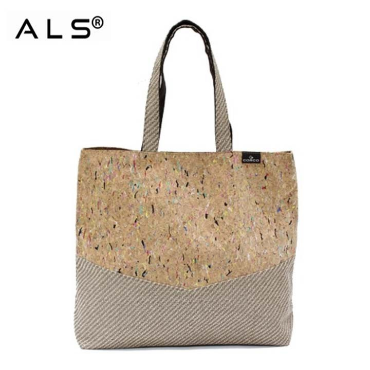 Cork Shopping Bag With Zipper