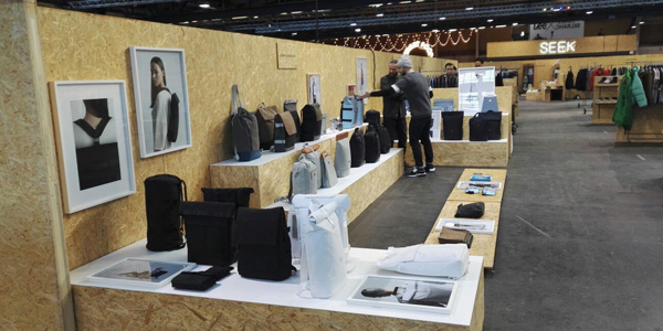 Our client's booth showing our backpack