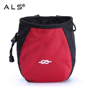 Good Quality Rock Climbing Chalk Bag OEM Polyester Drawstring Climbing Chalk Bag Animal Chalk Bag With Belt