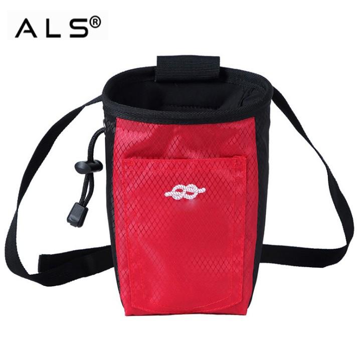 Kolorowa, niestandardowa, wysokiej jakości, wspinaczkowa torba gimnastyczna z kredą, kulką, paskiem i kieszeniami