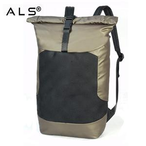 Custom Computer Layer Rolling Top Closed Laptop Bag Black Fashion Laptop Backpack
