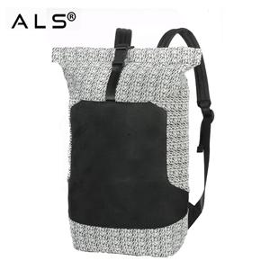 custom private label outdoor waterproof traveling bag anti-theft roll top new material men's travel backpack