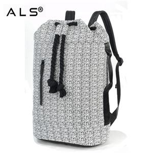 Unisex Spacious New Fabric School Bag Barrel Backpack Hiking Bag