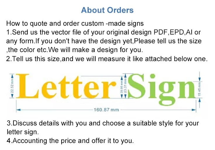 Custom stainless steel metal signage plate