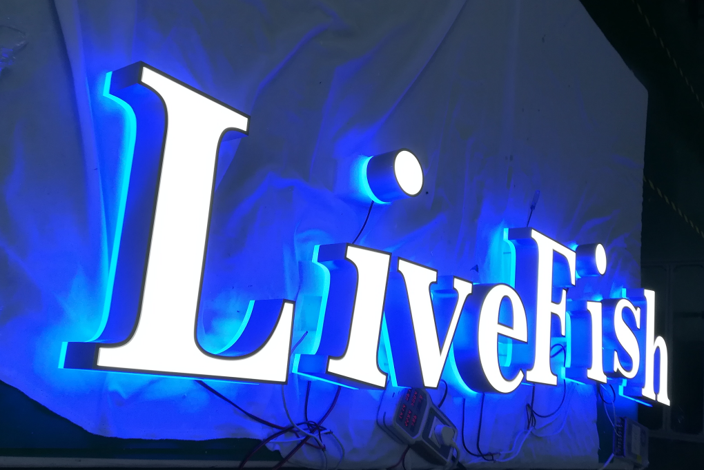 acrylic mini LED channel letter sign