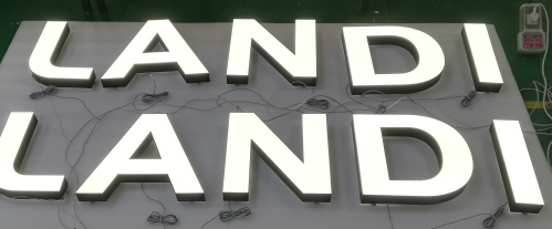 advertising led backlit letters sign