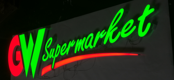 Led mini acrylic sign letters