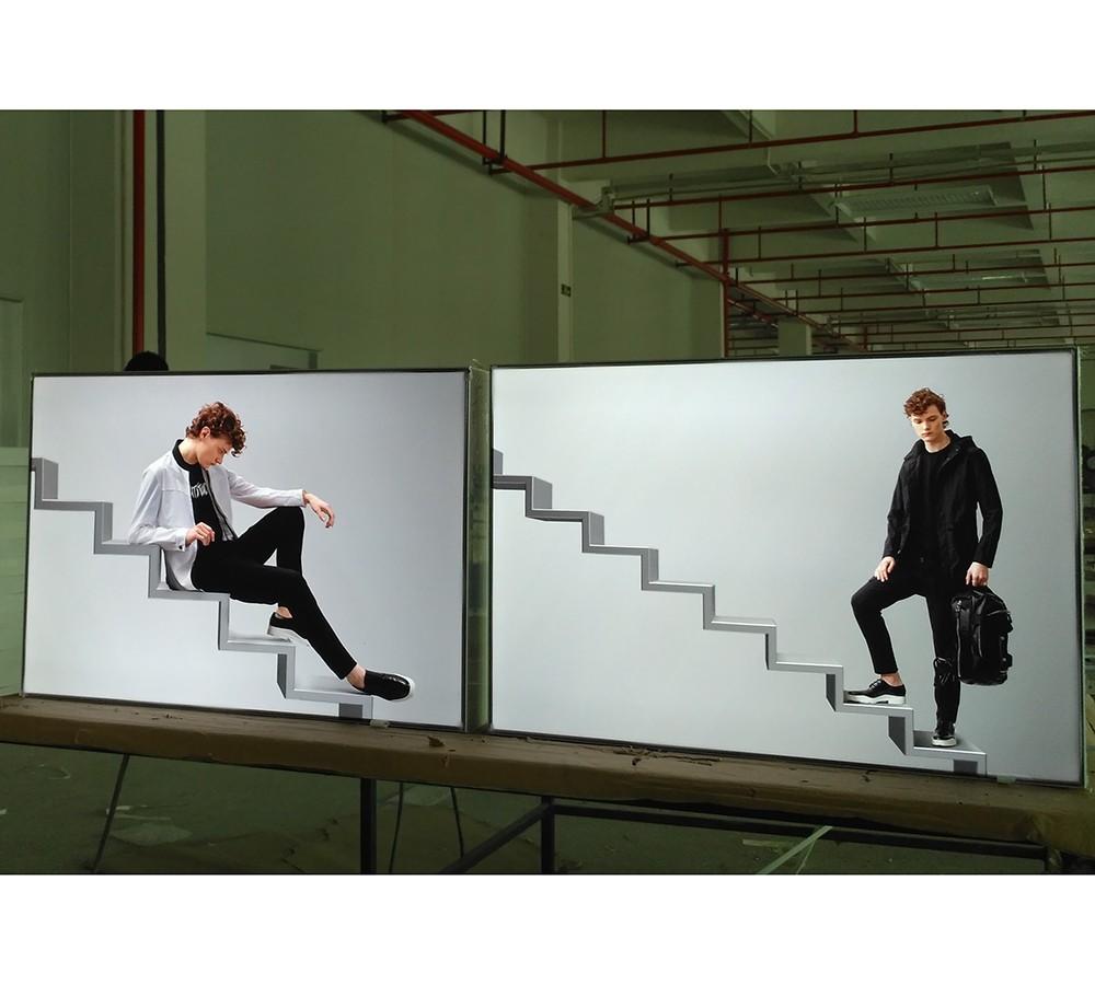 backlit fabric LED light box for advertising