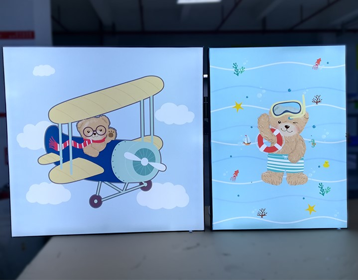 Backlit Led Frameless Fabric Light Box