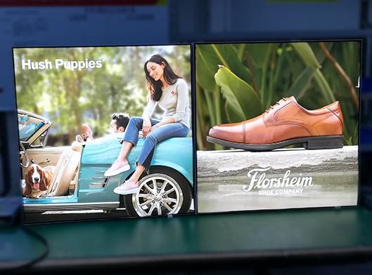 Advertising fabric LED light box