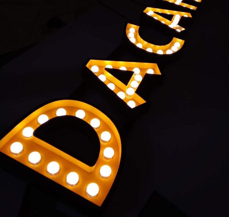 Led Bulb Letters Sign