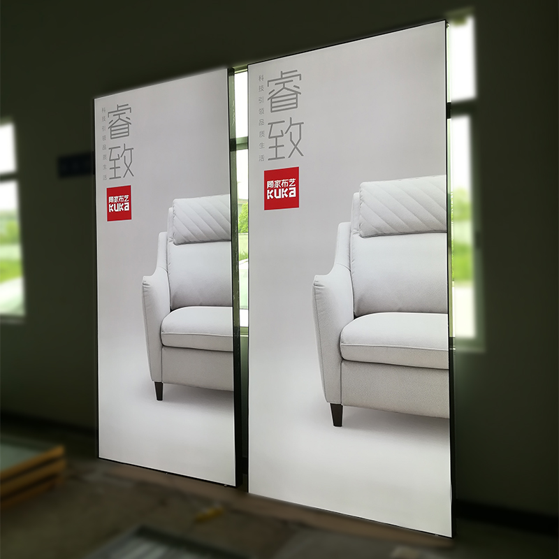 Frameless frame LED light box