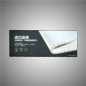 Dubbelzijdige staande frameloze led-aluminium lichtbak