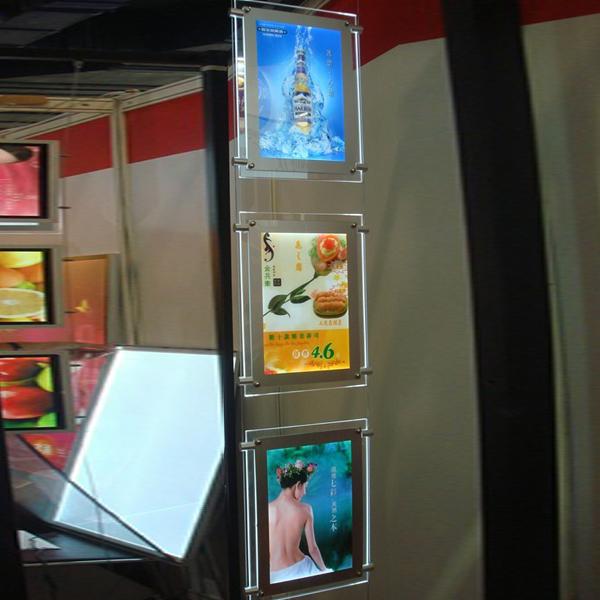 slim crystal menu light box