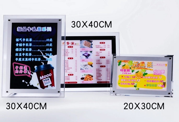 Acrylic LED windows display light box