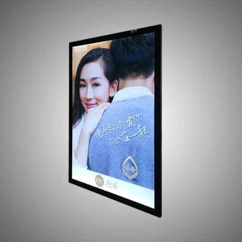 Maliit na Advertising Display Snap Open Slim Light Box
