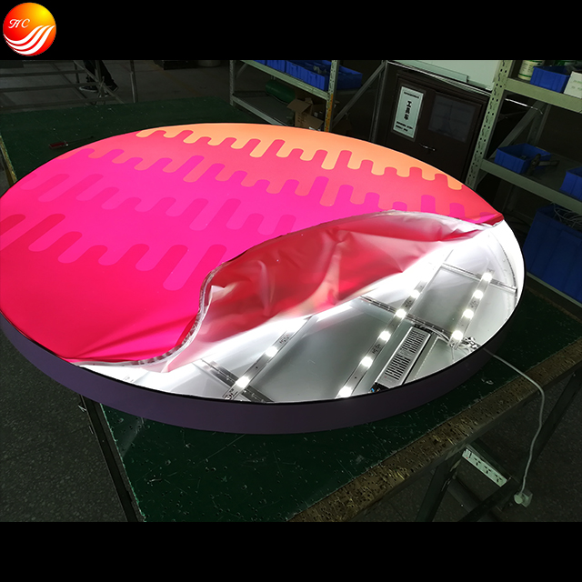Round Shape Led Display Light Box