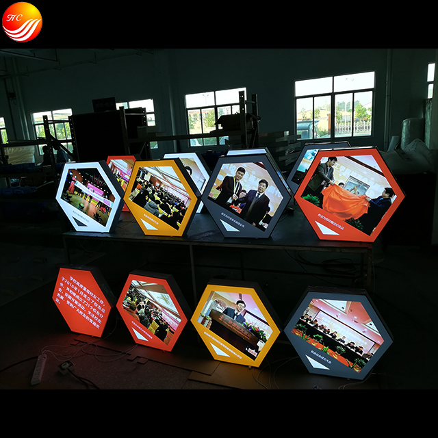 Frameless Tension fabric Irregular Customized Light Box