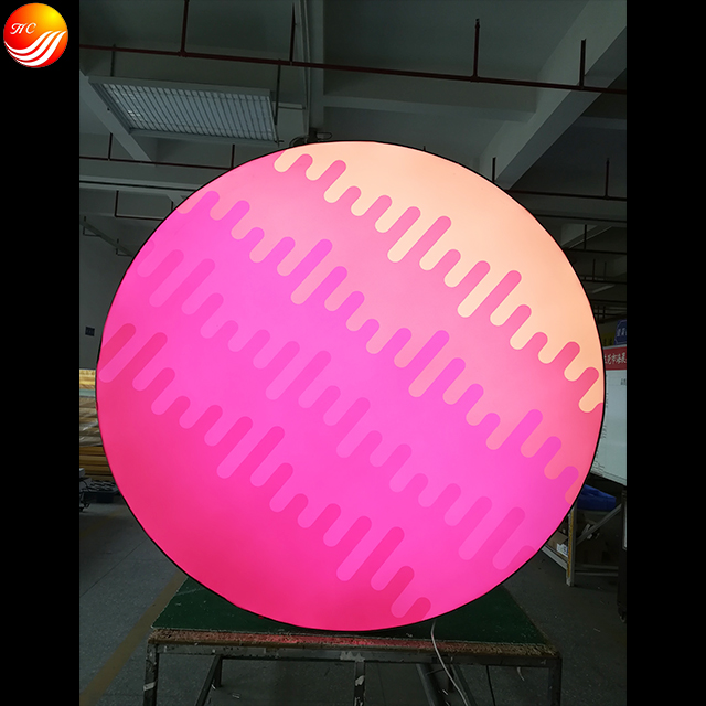 Customized irregular shape LED Aluminum light box