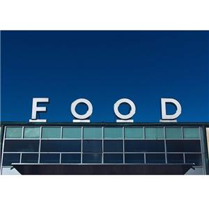 Outdoor Building Metal Freestanding Plate Signage